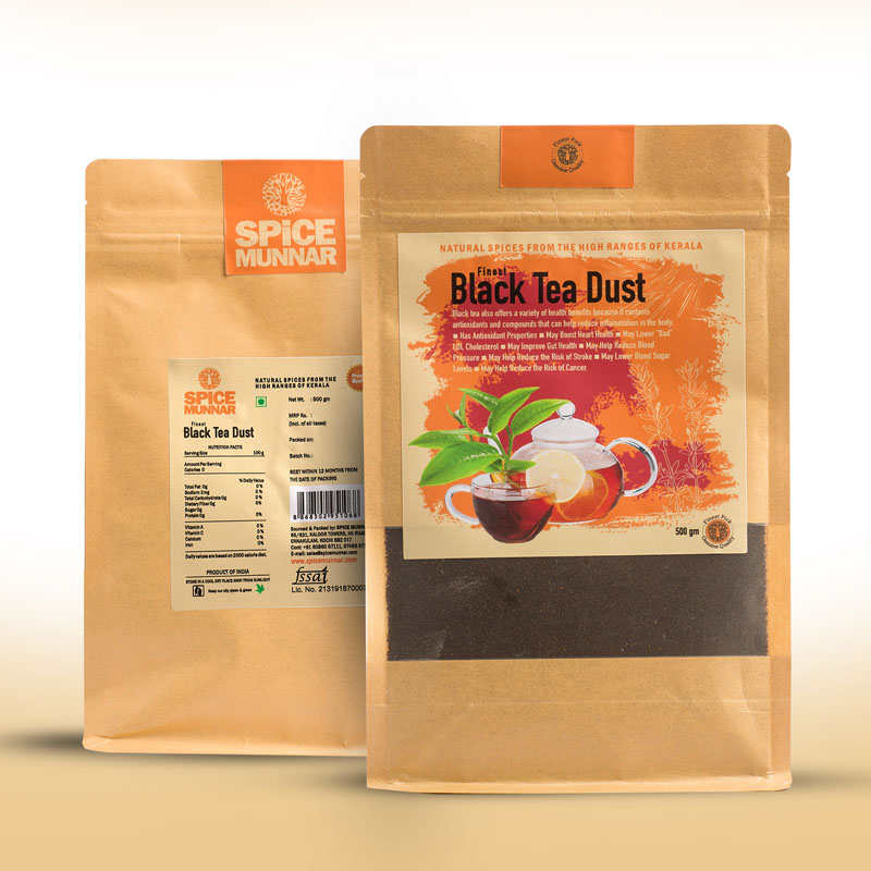 black tea dust - Kerala spices