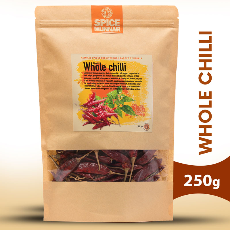 whole chilli - spices of munnar
